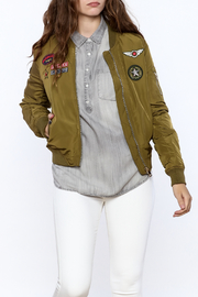 Cattiva Girl Olive Bomber Jacket - Front cropped