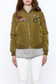 Cattiva Girl Olive Bomber Jacket - Side cropped