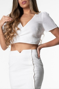 Cattiva Girl Cutout Back Crop-Top - Product List Image