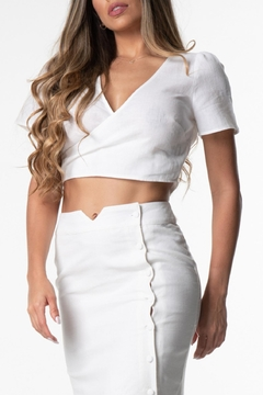 Cattiva Girl Cutout Back Crop-Top - Alternate List Image