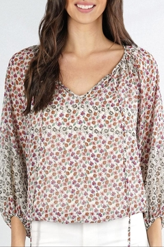 Cattiva Girl Floral Peasant Top - Product List Image