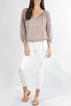 Cattiva Girl Floral Peasant Top - Alternate List Image
