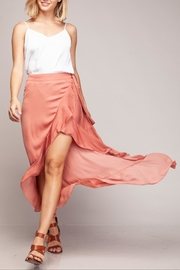 Cattiva Girl High-Low Ruffled Skirt - Front cropped