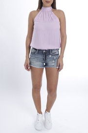 Cattiva Girl Lilac Halterneck Top - Product Mini Image