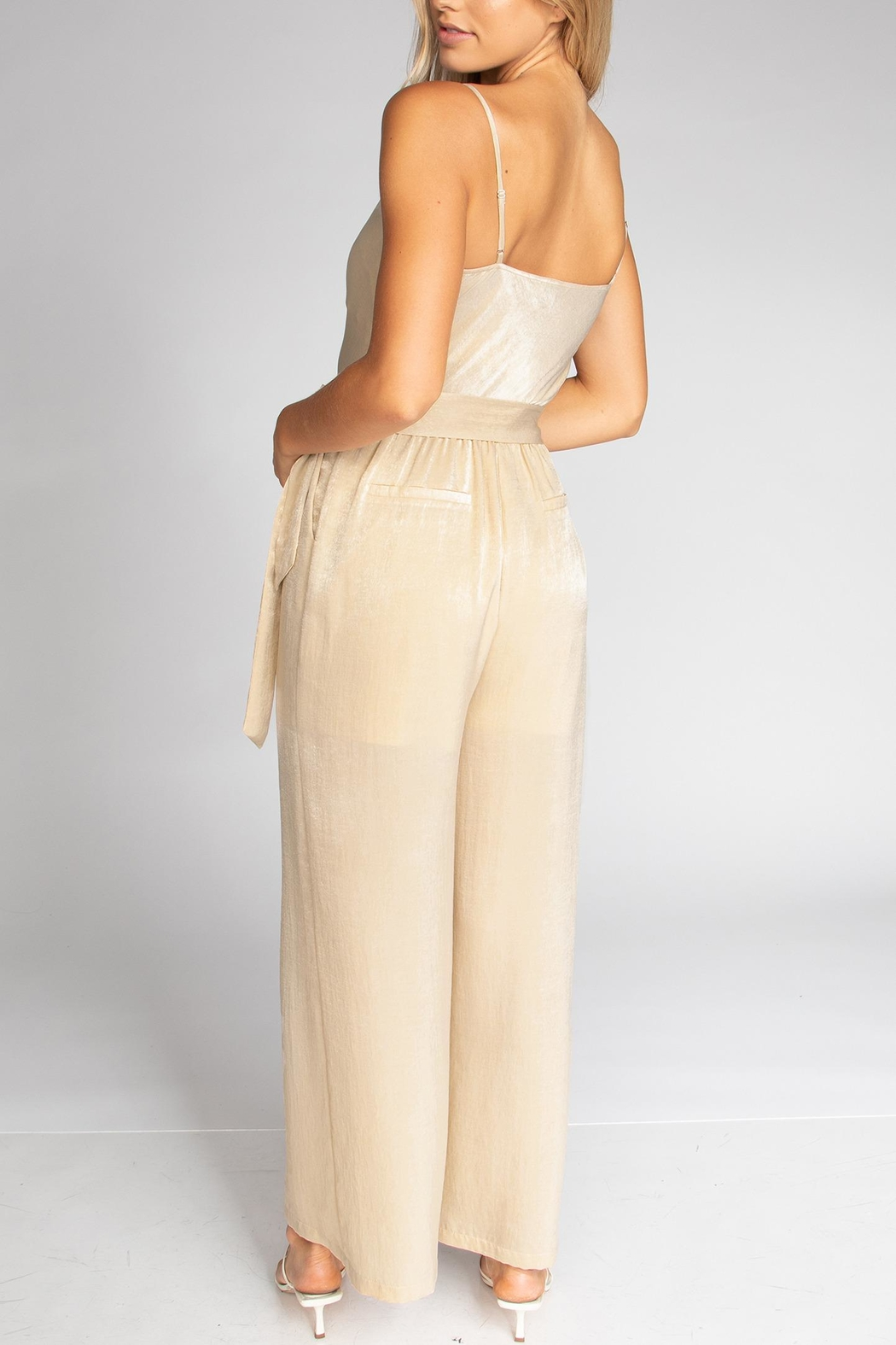 Cattiva Girl Strappy Cowl Jumpsuit - Front Full Image