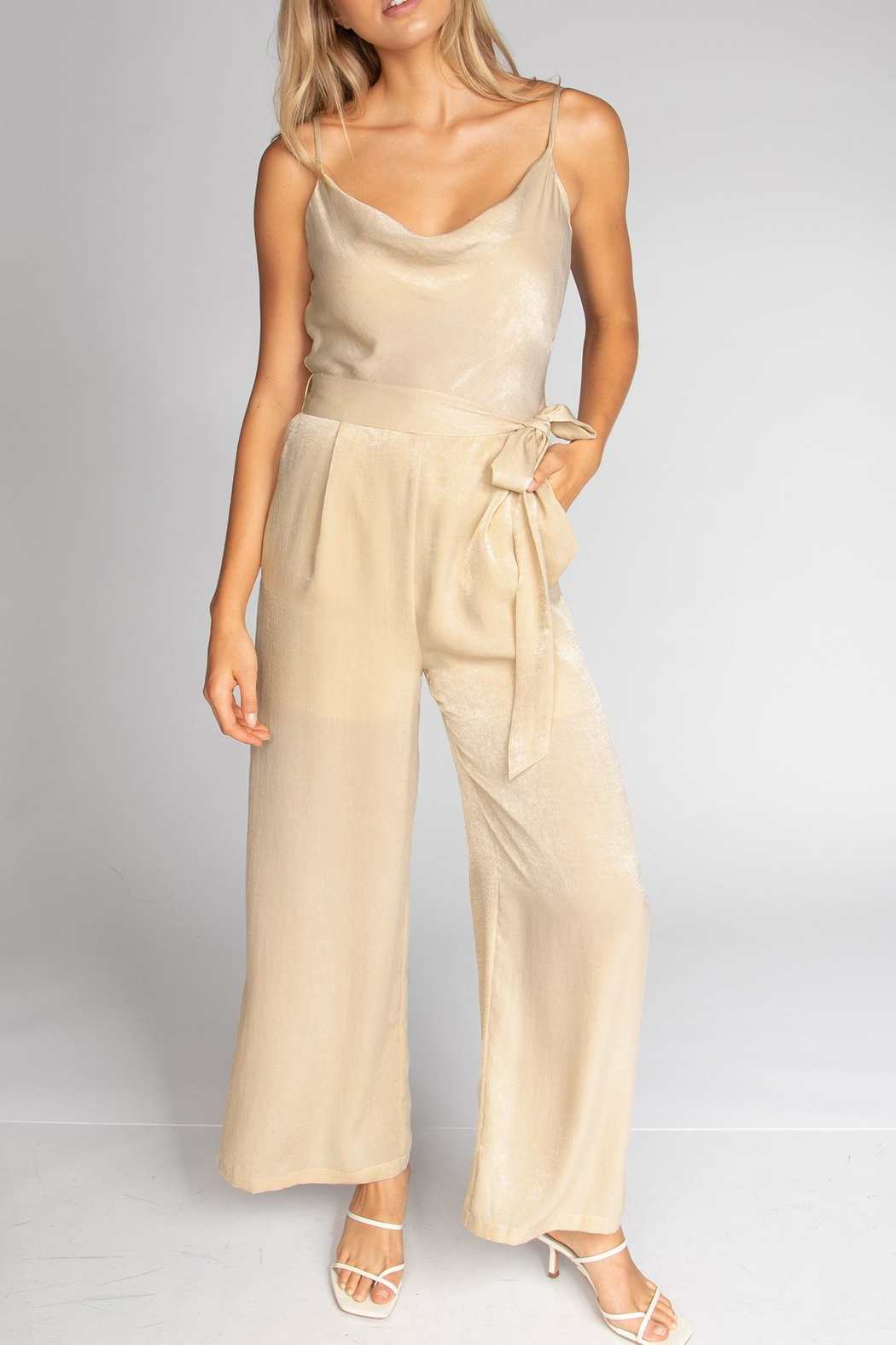 Cattiva Girl Strappy Cowl Jumpsuit - Main Image