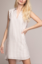 Cattiva Girl Striped Shift Dress - Front cropped
