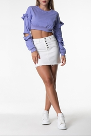 Cattiva Girl Sweater With Ruffle-Sleeves - Product Mini Image