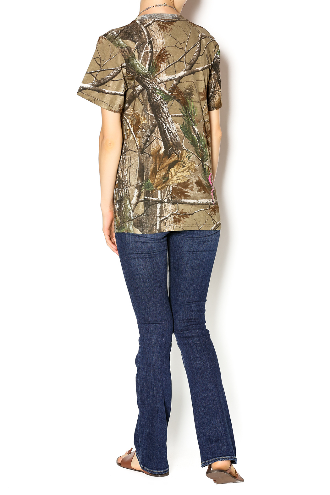 Cattlelac Cowgirl & Co. Camo Cattlelac Tee - Side Cropped Image