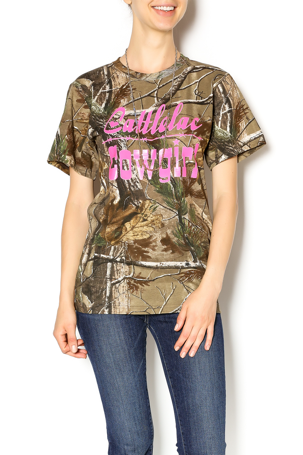 Cattlelac Cowgirl & Co. Camo Cattlelac Tee - Main Image
