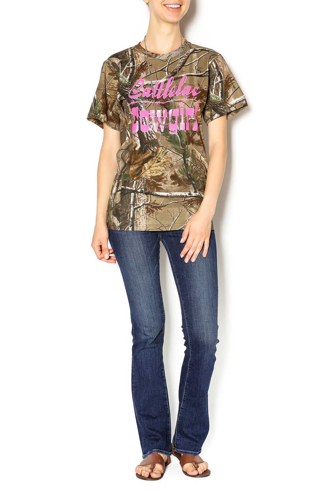 Cattlelac Cowgirl & Co. Camo Cattlelac Tee - Front Full Image