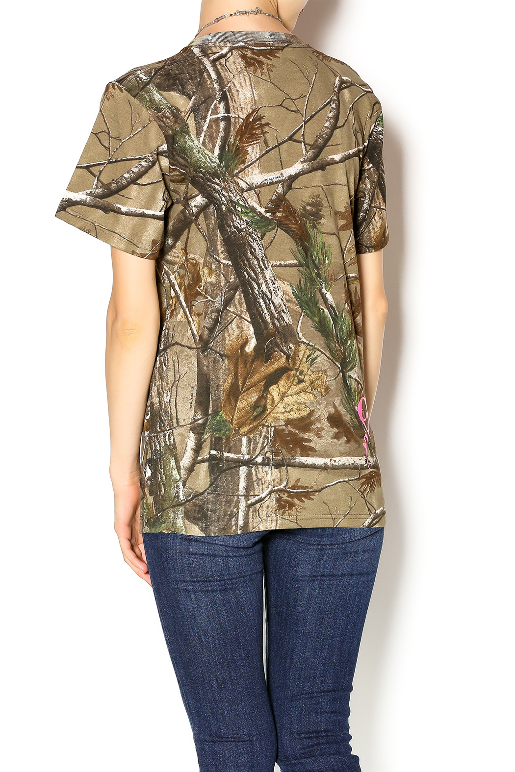 Cattlelac Cowgirl & Co. Camo Cattlelac Tee - Back Cropped Image