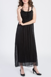 Catwalk Black Pleated Maxi Dress - Product Mini Image