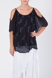 Catwalk Crystal Feather Top - Front full body