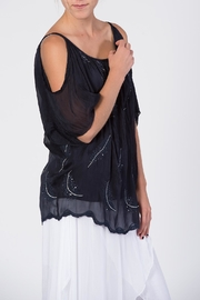 Catwalk Crystal Feather Top - Back cropped