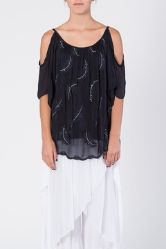 Catwalk Crystal Feather Top - Product List Image