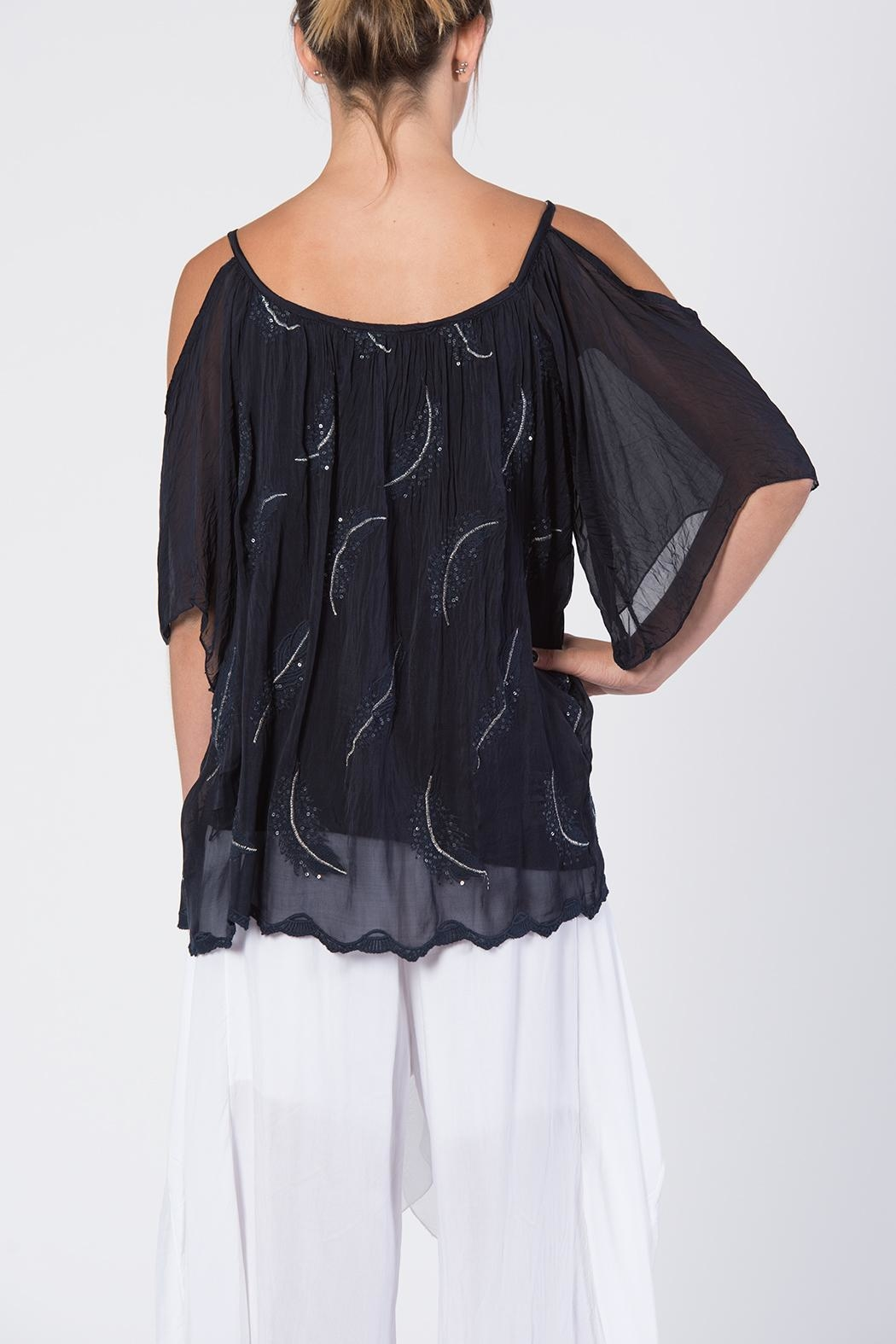 Catwalk Crystal Feather Top - Side Cropped Image