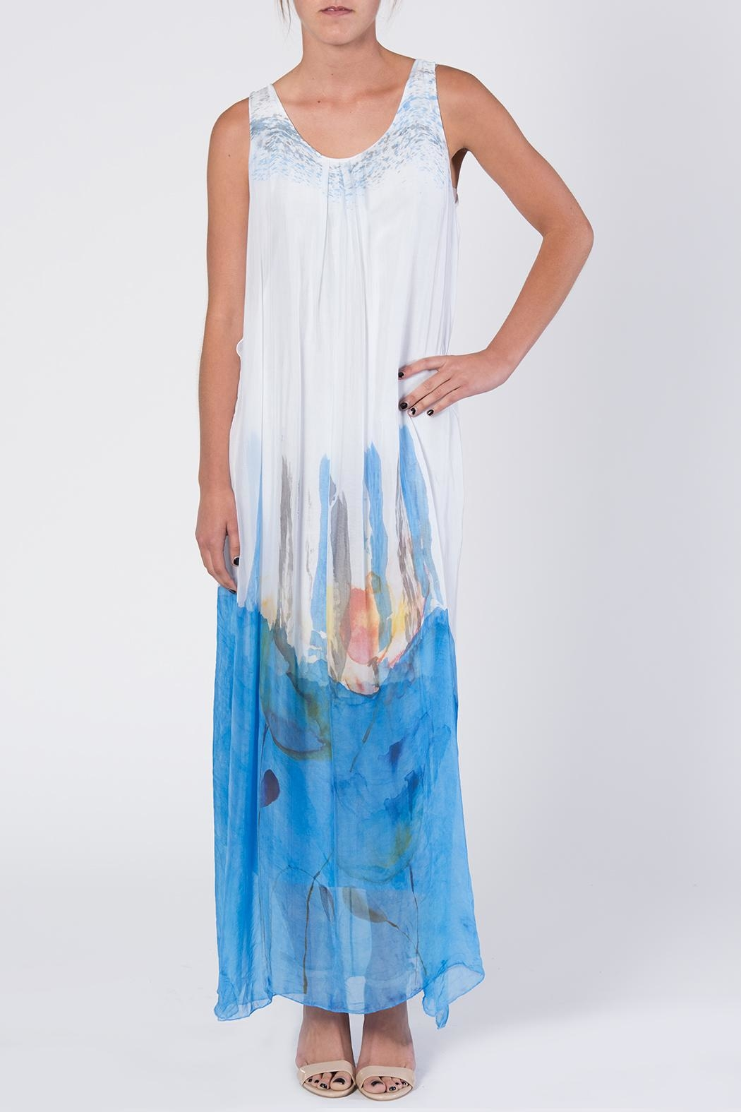 Catwalk Dip-Dye Maxi Dress - Front Full Image