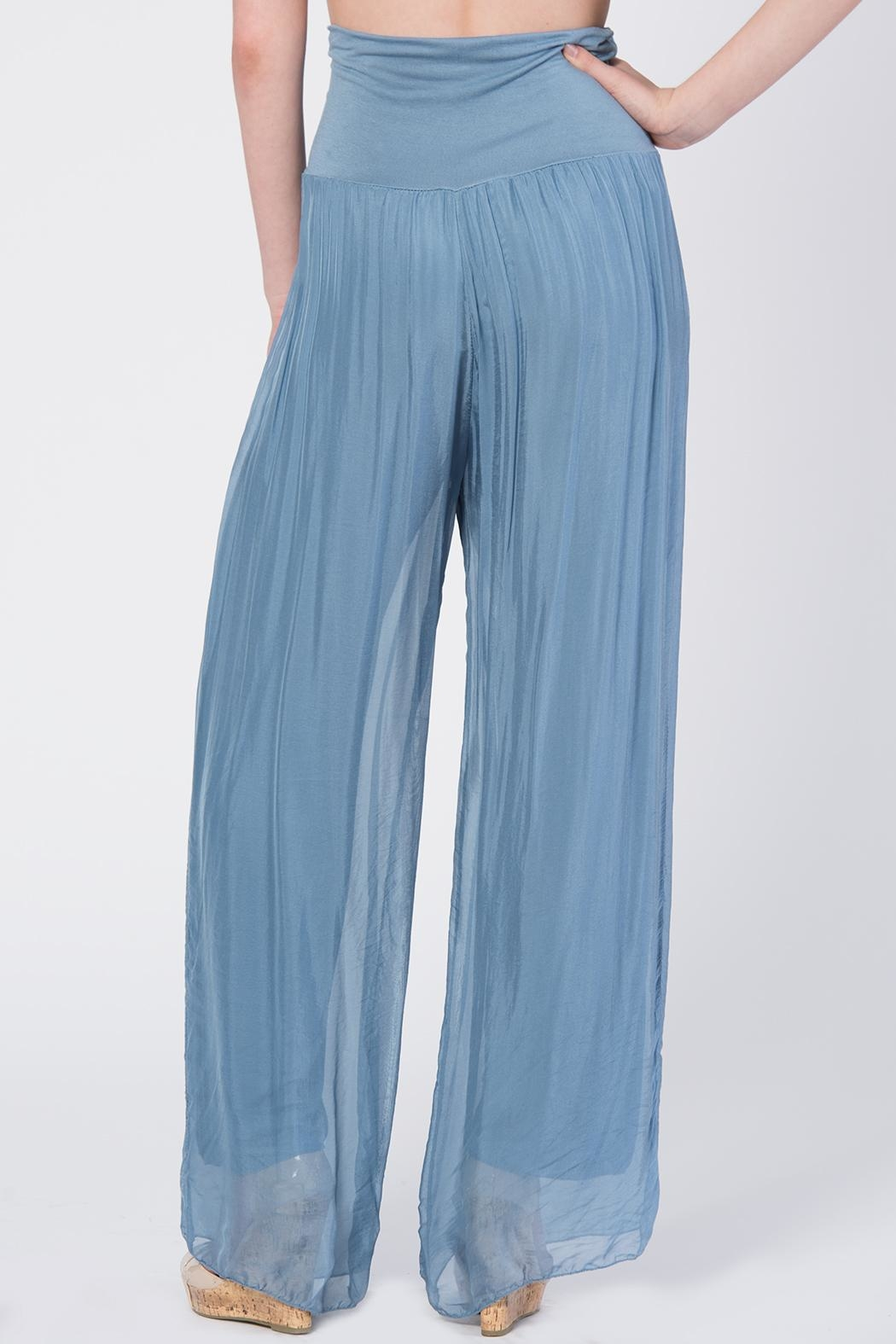 Catwalk Flowy Pleated Pants - Side Cropped Image