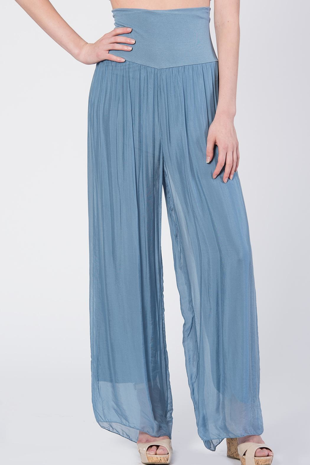 Catwalk Flowy Pleated Pants - Main Image