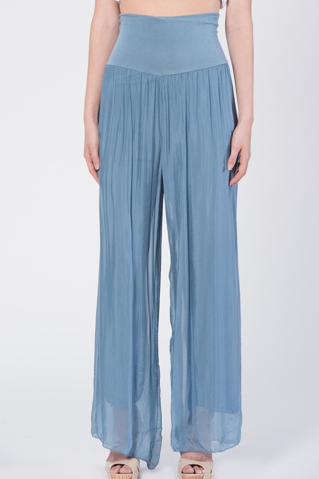 Catwalk Flowy Pleated Pants - Front Full Image