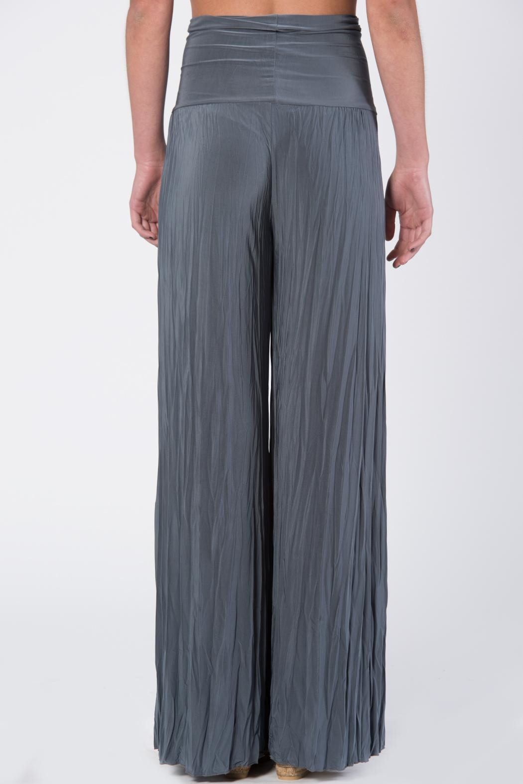 Catwalk Grey Pleated Pants - Front Full Image