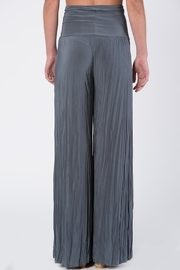 Catwalk Grey Pleated Pants - Front full body