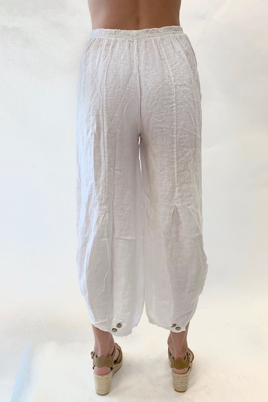 Catwalk Multi Button Ankle Pants - Side Cropped Image