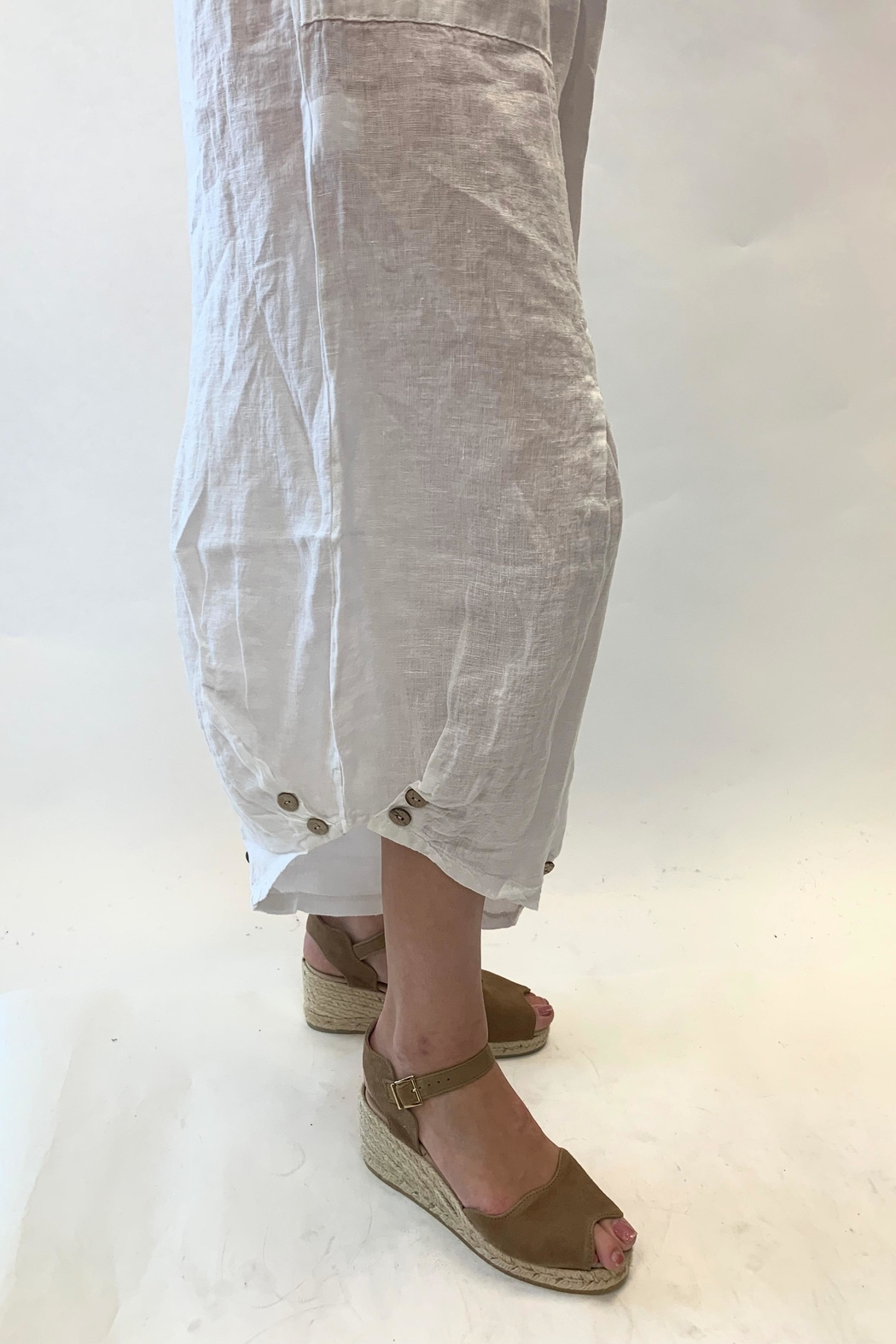 Catwalk Multi Button Ankle Pants - Front Full Image