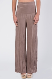 Catwalk Tan Pleated Pants - Product Mini Image