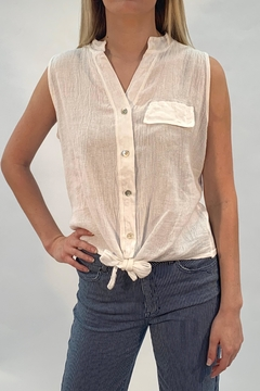 Catwalk White Buttoned Top - Product List Image