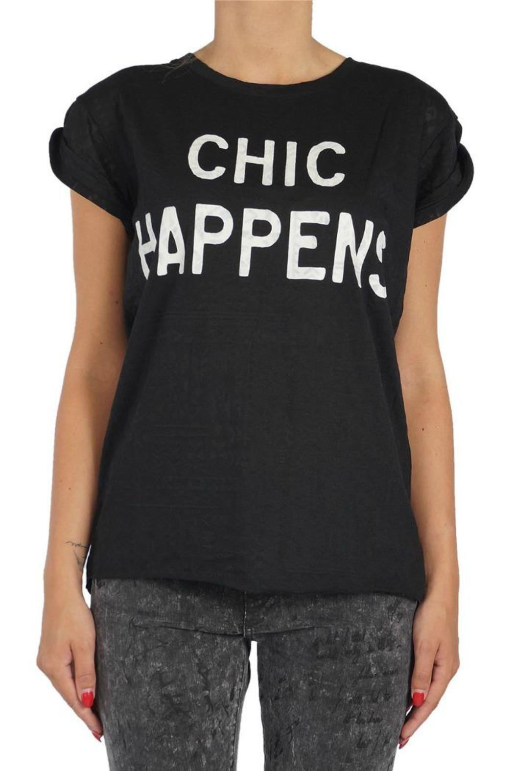 Catwalk Junkie Chic Happens Tee - Front Cropped Image