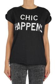 Catwalk Junkie Chic Happens Tee - Front cropped