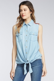 Velvet Heart Caudia Denim Top - Product Mini Image