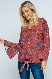 Twenty Second Causal Knit Paisley Top - Product Mini Image