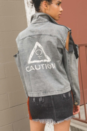 POL Caution Cut Out Jacket - Product Mini Image