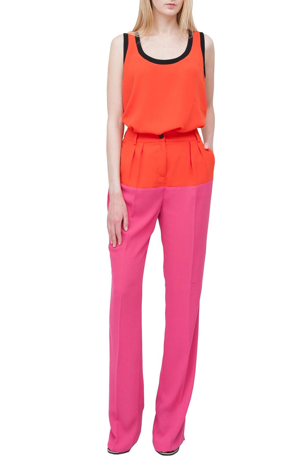 Cavalli Class Pink Stylish Trousers - Front Cropped Image