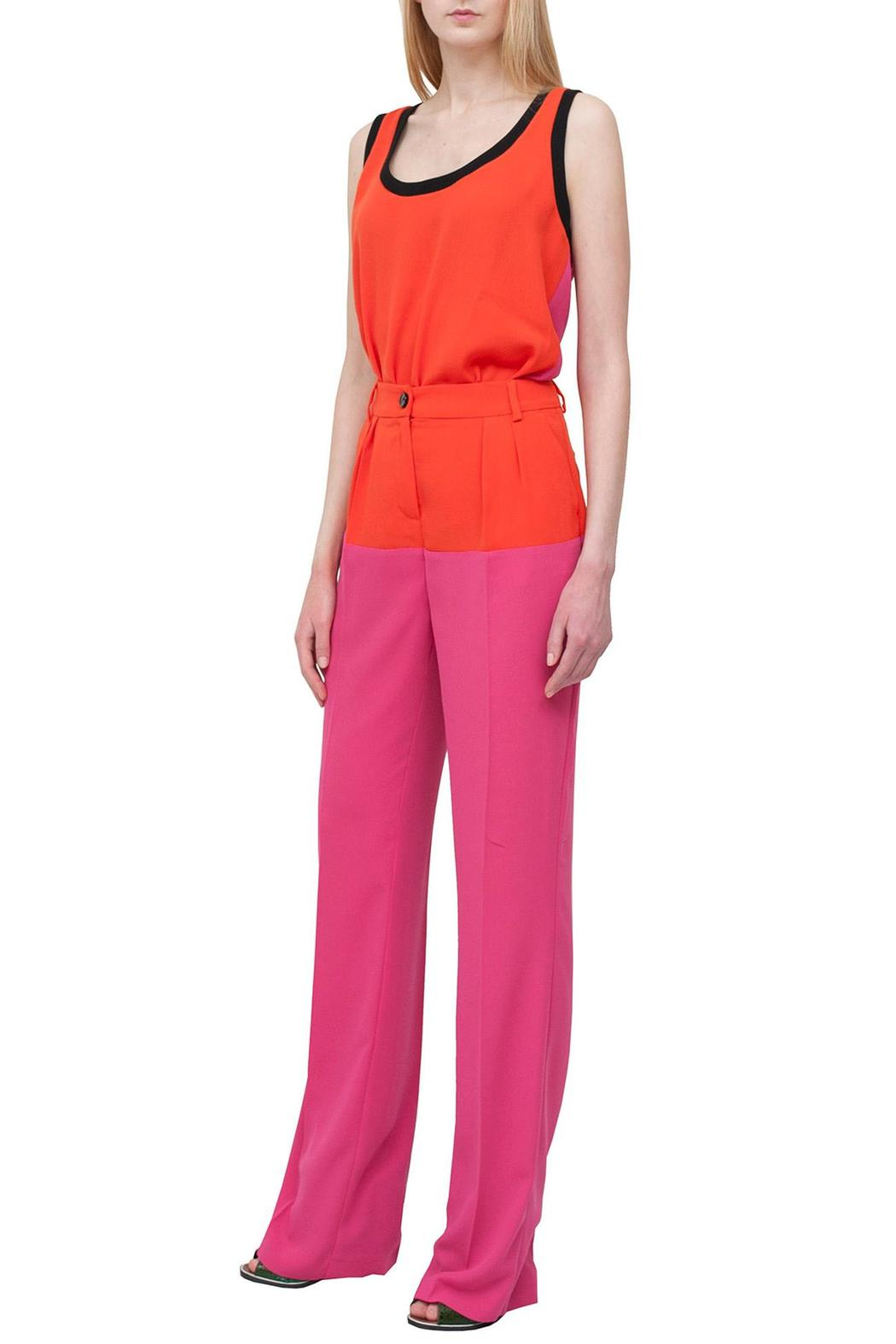 Cavalli Class Pink Stylish Trousers - Front Full Image