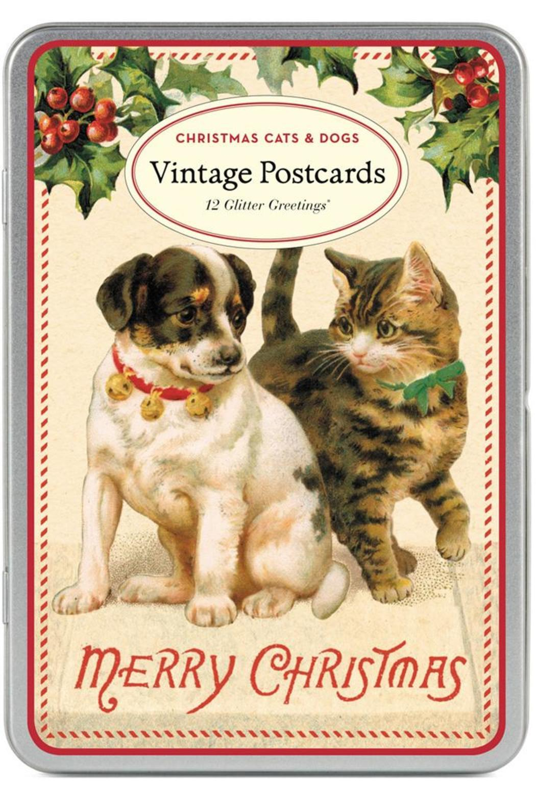 cavallini co christmas postcards front cropped image