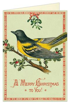 Cavallini & Co Christmas Bird Card - Alternate List Image