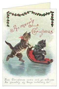 Shoptiques Product: Christmas Cats Card