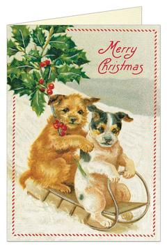 Shoptiques Product: Christmas Dogs Card