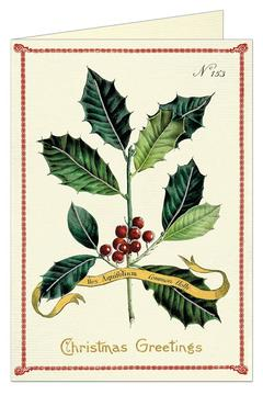 Cavallini & Co Christmas Holly Card - Alternate List Image