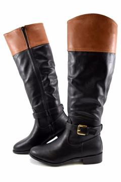 Bamboo Two-Tone Buckle Boot - Alternate List Image