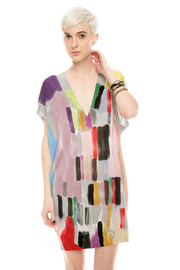 Shoptiques Product: Brush-Print Tunic - Front cropped