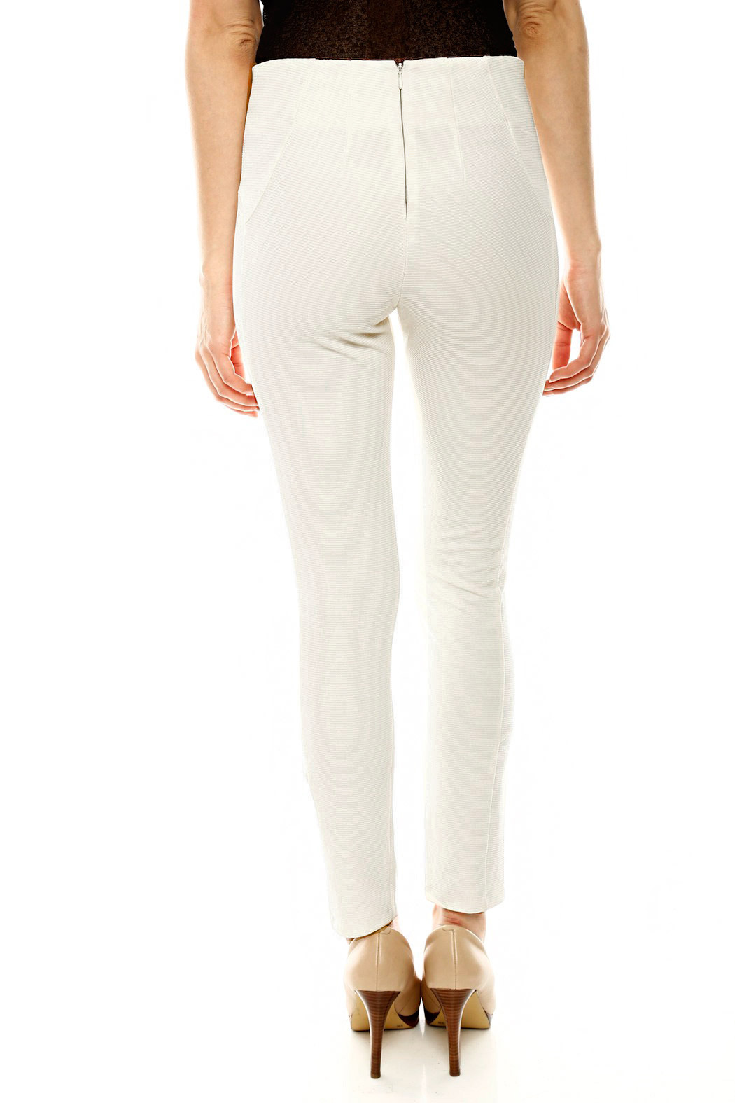 Gracia Ribbed Riding Pant - Back Cropped Image