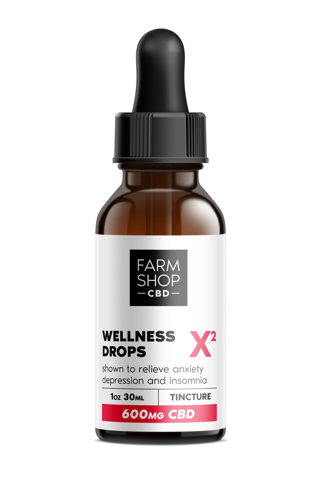 Toss Designs CBD WELLNESS DROPS 600MG - Front Cropped Image