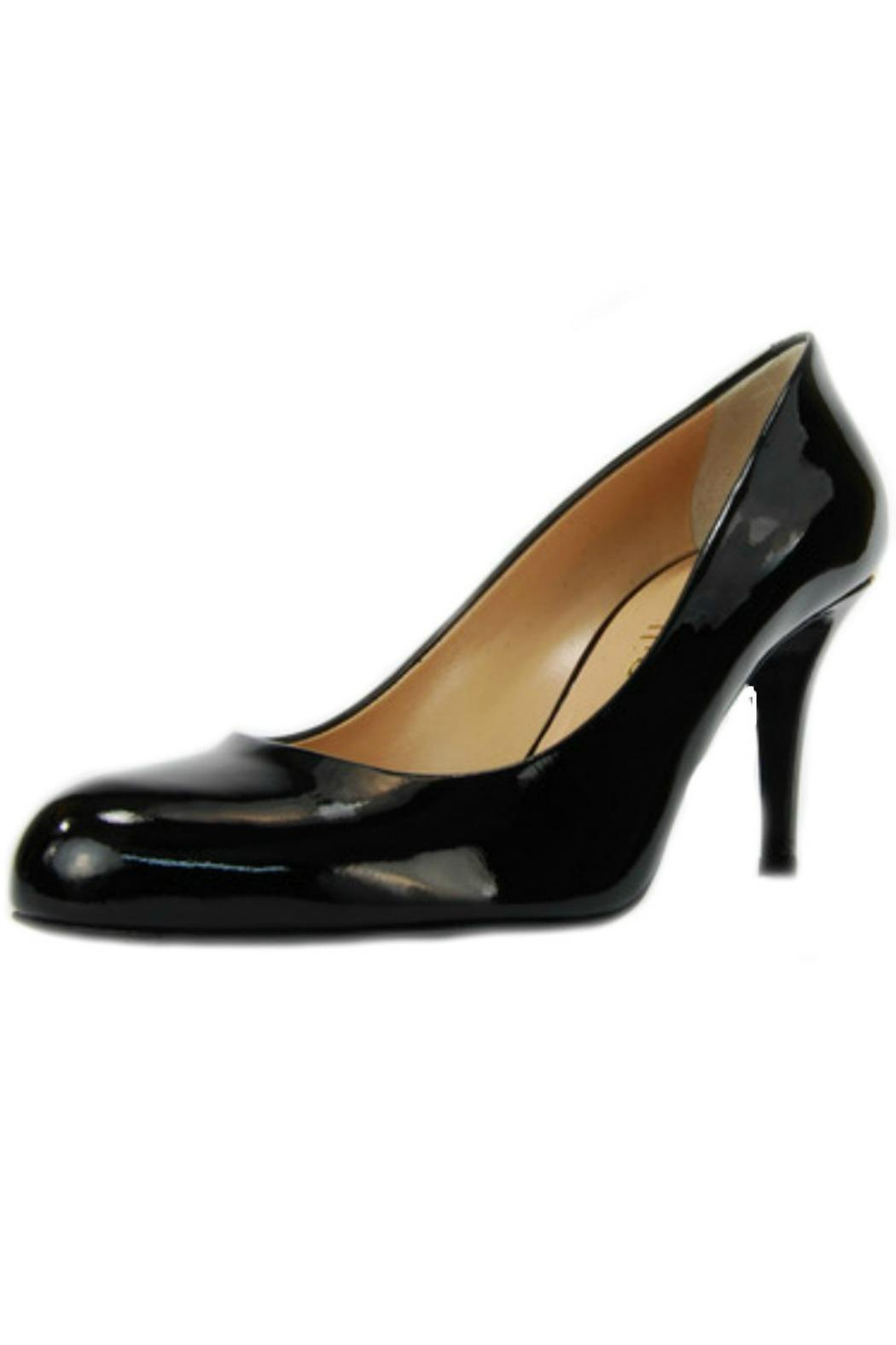 Ballin Black Leather Pump - Front Cropped Image