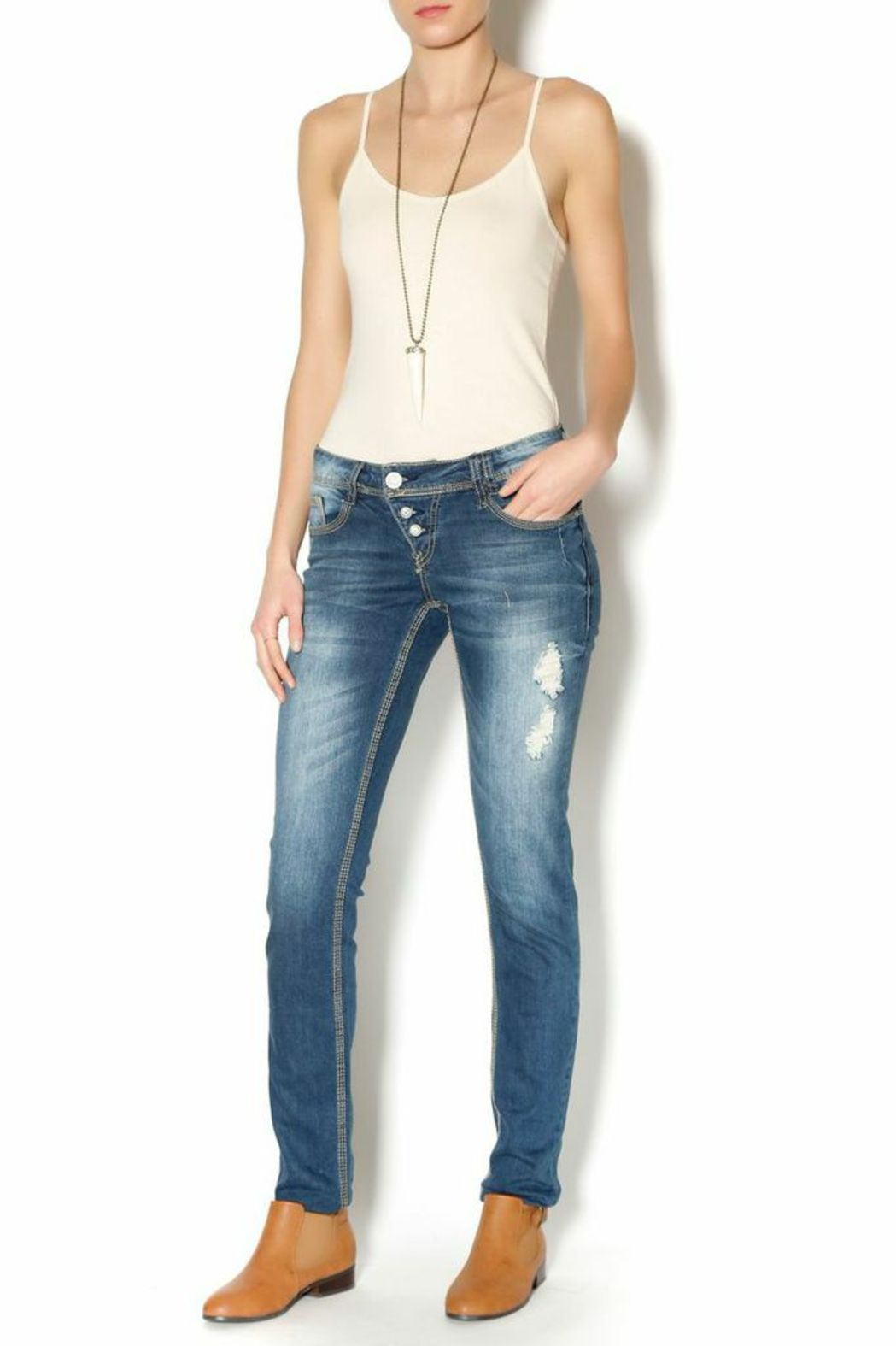 Sublevel Slim Fit Jeans - Front Full Image