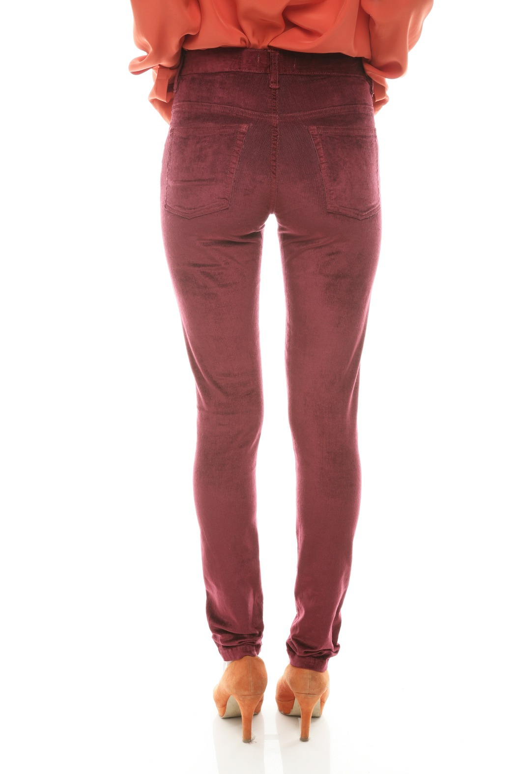 c0653c2bbfd7 Courtshop High-Waist Skinny Velvet Pants from Lower East Side by ...